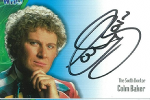 Doctor Who  COLIN BAKER as The Sixth Doctor  AUTOGRAPH CARD AU1, Strictly Ink  -  10638